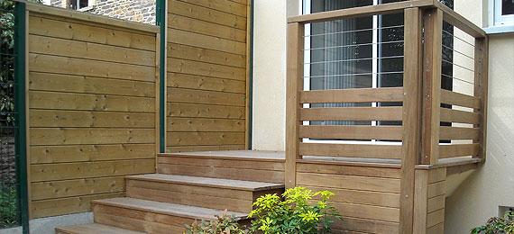 Escalier en bois design pour ext rieur dj cr ation for Agence bois exterieur