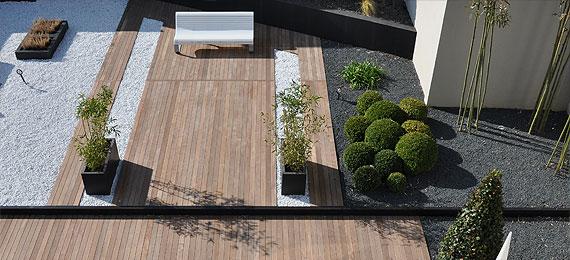 Terrasse et jardin contemporain dj cr ation for Photo jardin contemporain