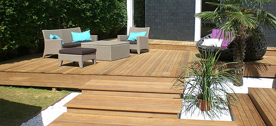 Terrasse le design de votre jardin dj cr ation for Terrasse de jardin design