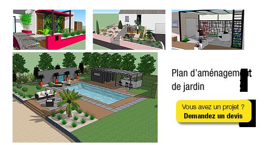 Paysagiste architecte d 39 ext rieur bretagne grand ouest for Plan amenagement jardin rectangulaire