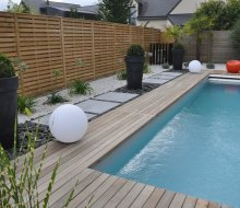 Entourage piscine terrasse bois