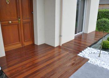 terrasse bois associ e du carrelage dj cr ation. Black Bedroom Furniture Sets. Home Design Ideas