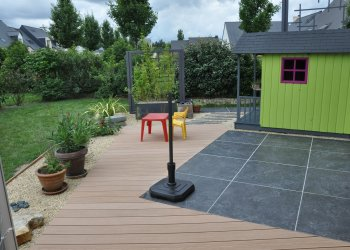 Terrasse carrelage carrelage exterieur fever with for Reagreage exterieur