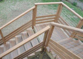 escalier bois extérieur sur mesure