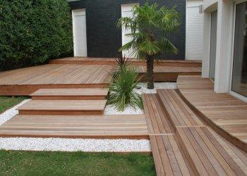 marche bois bordure terrasse