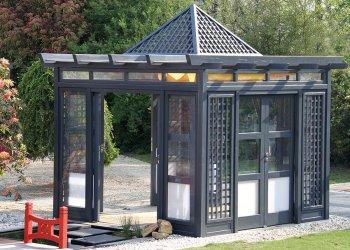 tonnelle et gloriette en bois sur mesure dj cr ation. Black Bedroom Furniture Sets. Home Design Ideas