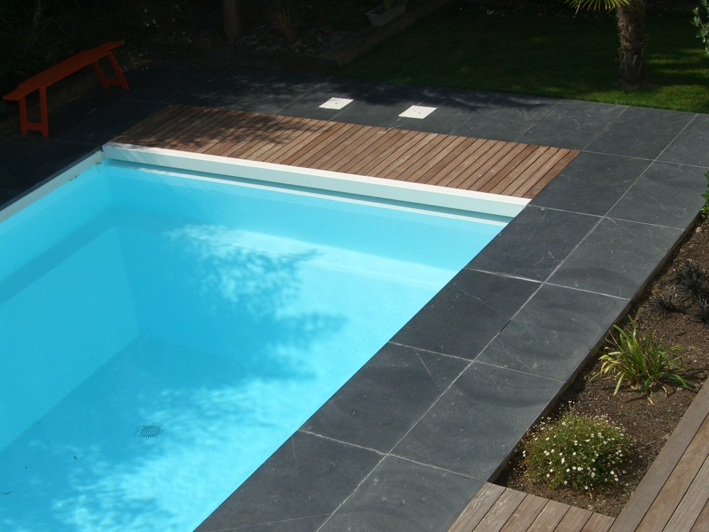 Entourage piscine ext rieur ardoise dj cr ation for Entourage piscine design