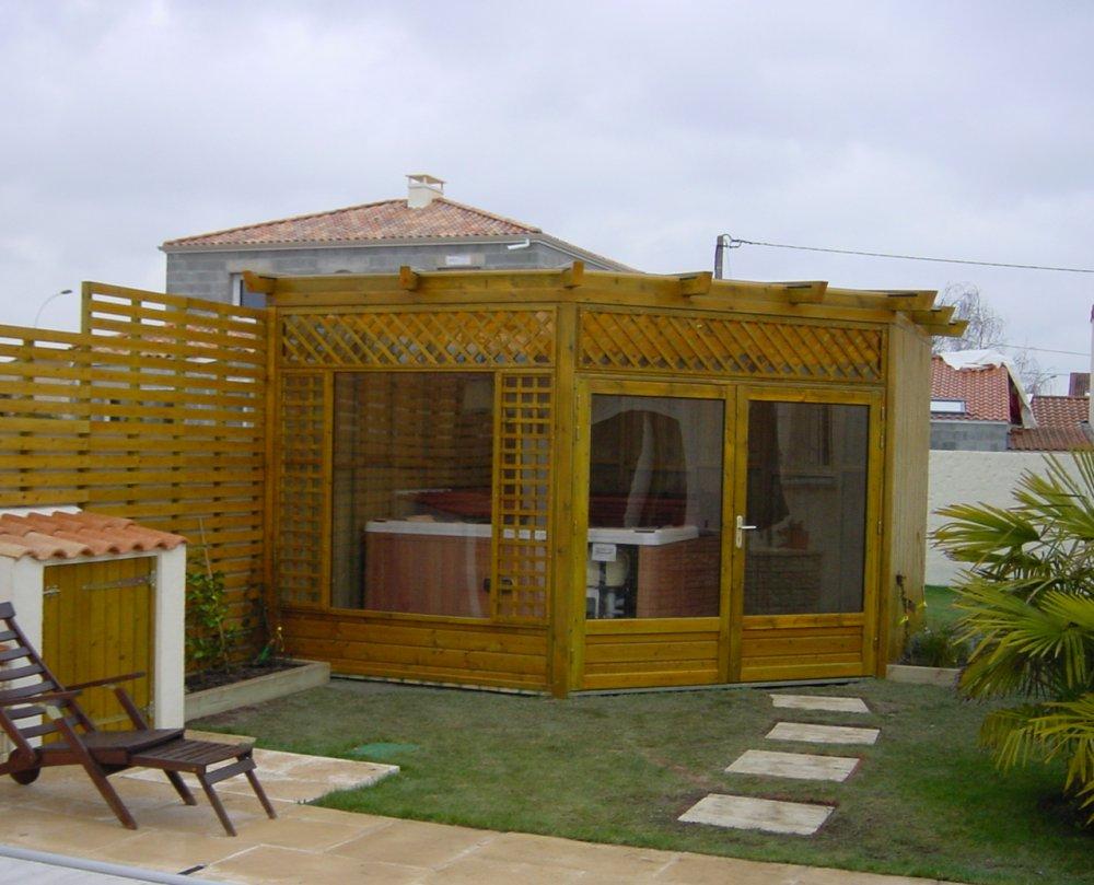 abri pour spa tonnelle dj cr ation. Black Bedroom Furniture Sets. Home Design Ideas