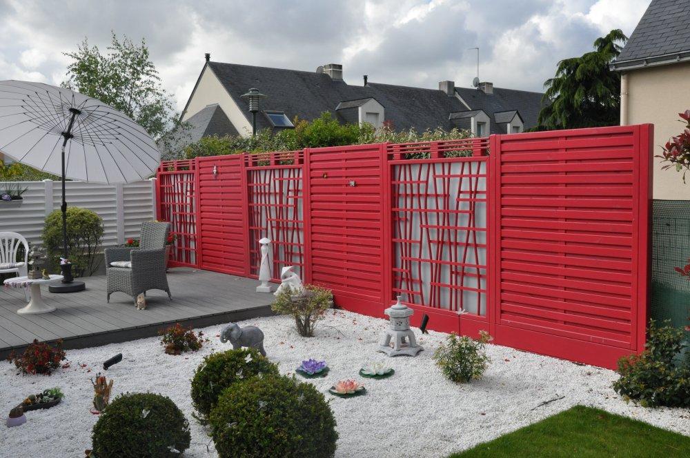 claustra et parroie japonaise bois rouge dj cr ation. Black Bedroom Furniture Sets. Home Design Ideas