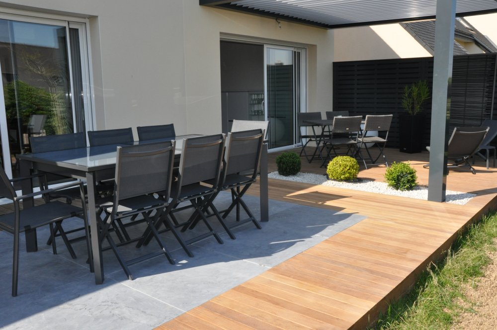 terrasse bois et carrelage dj cr ation. Black Bedroom Furniture Sets. Home Design Ideas