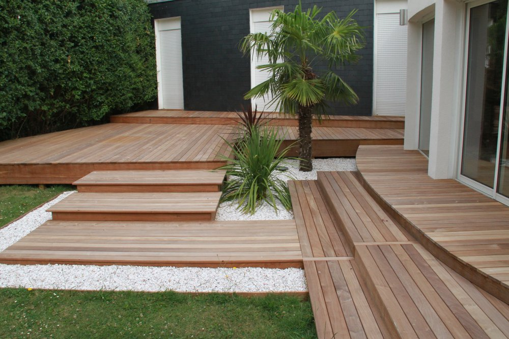 Terrasse le design de votre jardin dj cr ation for Conception de jardin terrasse