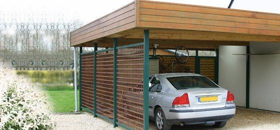 Abri voiture bois carport bois dj cr ation for Garage exterieur design