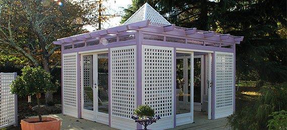 Gloriette en bois pour votre jardin dj cr ation for Piscine gloriette