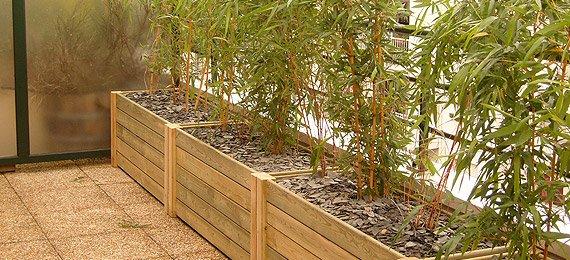 Jardini re sur mesure pour balcon dj cr ation - Fabriquer jardiniere bois ...