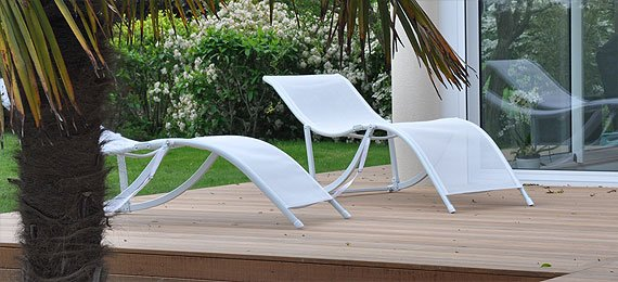 Chaise longue de jardin design dj cr ation for Chaise longue de jardin design