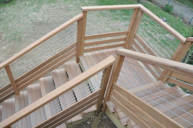 Escalier Bois Avec Quart Tournant Dj Cr Ation